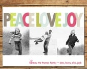Layered Love...Custom Photo Holiday Card...by KM Thomas Designs