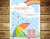 BIRTHDAY SHOWERS...Custom Printable Birthday Invitations...by KM Thomas Designs