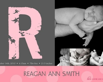 Stamped with Love Custom Photo Birth Announcements