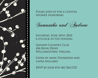 BERRY BEAUTIFUL...Custom Wedding or Baby Shower Invitation...by KM Thomas Designs