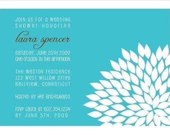 Floral Bridal Shower Invitation : Printable Flower Wedding Shower Invitation - Couples Shower - Engagement Party - Rehearsal Dinner Invite