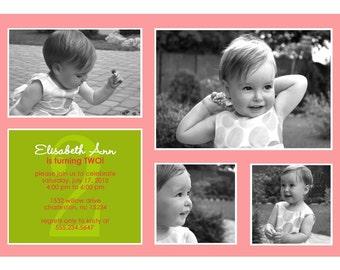 Delightful - Custom Photo Birthday Invitation
