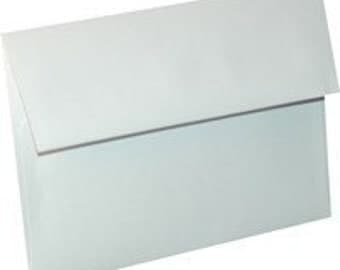 White Envelopes - A7 Envelopes - 5.25 x 7.25 White Envelopes - White Invitation Envelopes - Square Flap Envelopes - E100