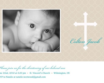 Honor - Custom Baptism Photo Invitation