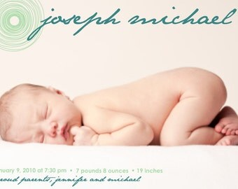 Wonder...Custom Photo Birth Announcement...by KM Thomas Designs