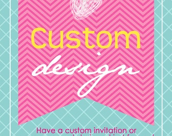 CUSTOM DESIGN photo announcement or invitation designed just for you...by KM Thomas Designs