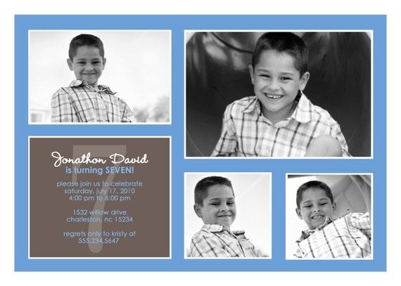Delightful - Custom Photo Birthday Invite
