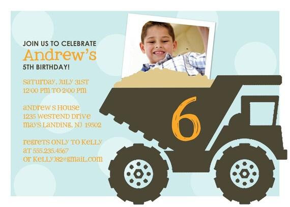 Truckin' - Custom Birthday Photo Invitation