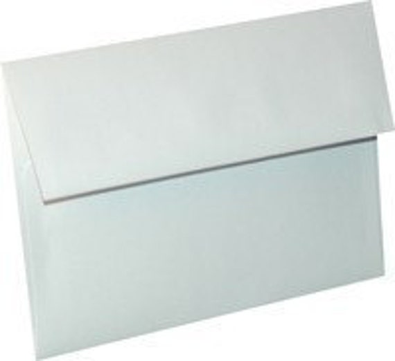 White Envelopes - A7 Envelopes - 5.25 x 7.25 White Envelopes - White Invitation Envelopes - Square Flap Envelopes - E100