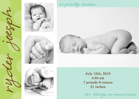 Enchanted - Custom Photo Birth Announcement