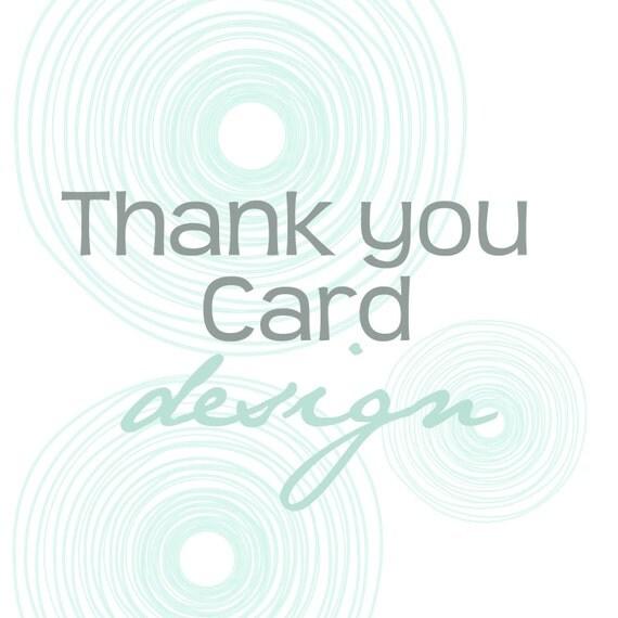 Matching Thank You Card Design