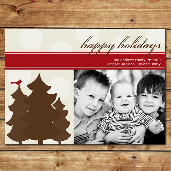 CHARM...Custom Photo Holiday Card...by KM Thomas Designs