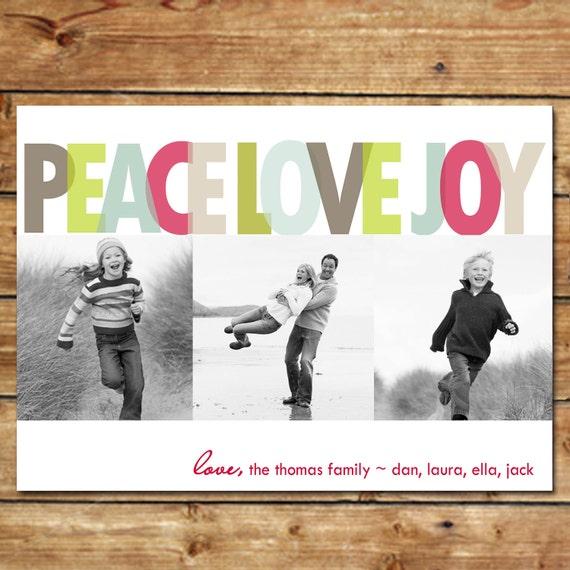 Layered Love...Custom Photo Holiday Card...by KM Thomas Designs