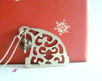 Santa hat sterling silver Necklace - Magic Elf Hat sterling silver necklace - Christmas sterling silver necklace