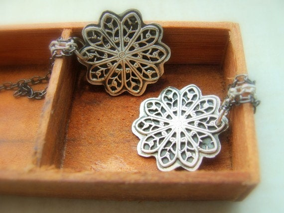 Star earrings Sterling Silver - Lace Star Sterling Silver Earrings - Dangle Star Earrings Sterling Silver - Falling Star Earrings Sterling
