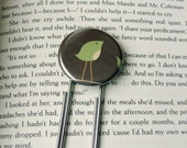 BITTY BIRD Bookmark - One (1) Large Paperclip-style Button Bookmark