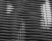 Wavy Building Original Black and White Photo Home Decor Gift Abstract Art Architecture