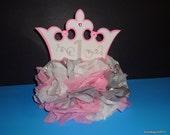 Princess Crown Decoration Centerpiece, Table decoration,Crown, Princess, Fairy,Party Supplies, 1st Birthday, 2nd Birthday