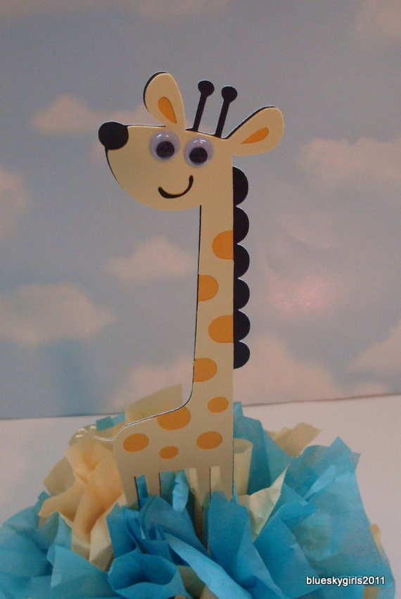 to giraffe baby centerpiece decoration kit diy complete birthday baby
