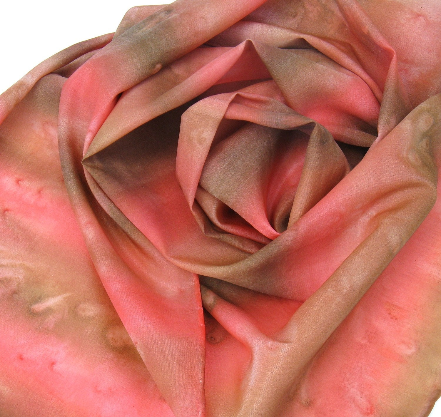 Silk scarves with breast cancer enblem