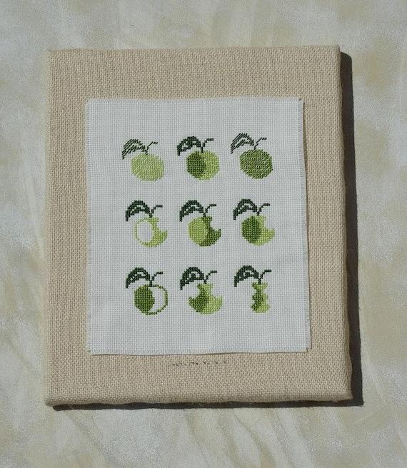 Cross stitch pattern APPLES  embroidery pattern,needlepoint,embroidery patterns,cross stitch,easy cross stitch,swedish,anette eriksson,green