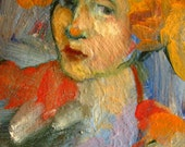 Greeting card, Print of one of my original oil paintings entitled Modern Portrait