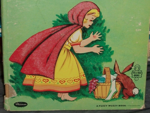 sale//60s Fuzzy Lil RED RIDING HOOD Tell a Tale Childrens Book