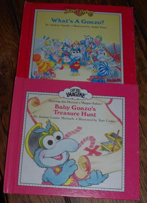 Set Baby Gonzo Muppet Babies Books 1980s