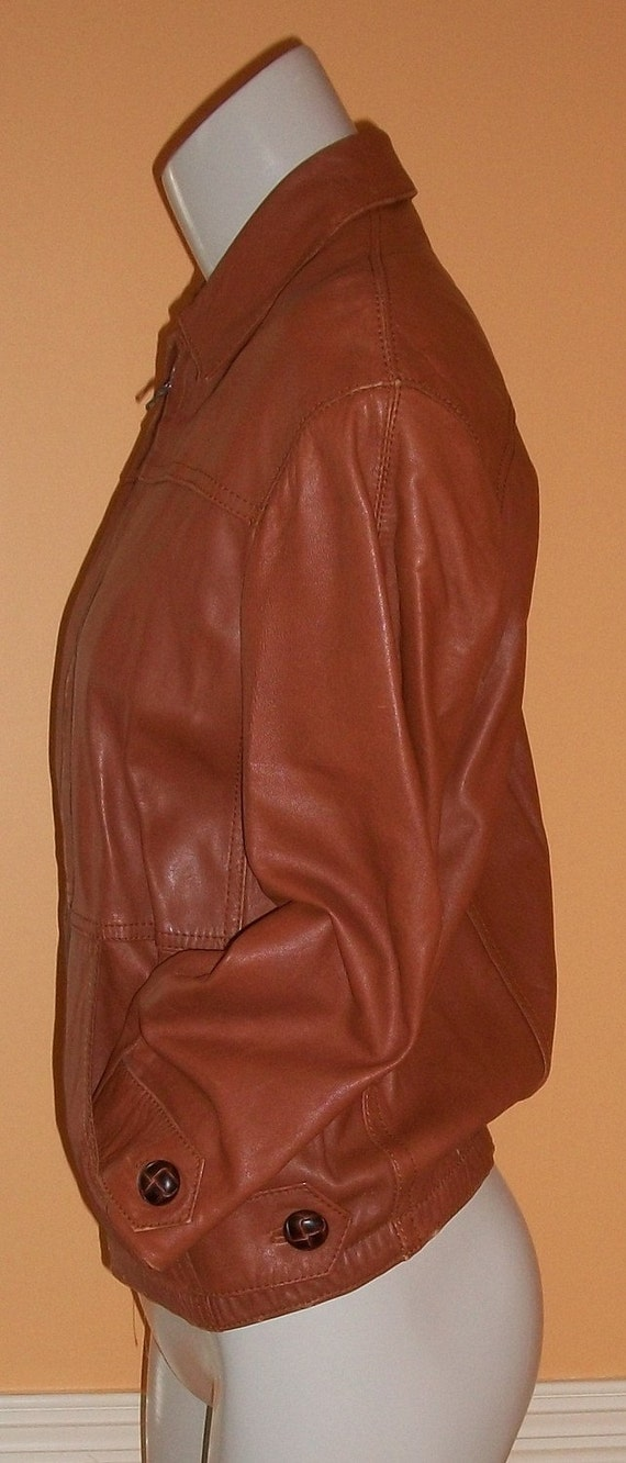 So Soft Leather Jacket from Spain size 8