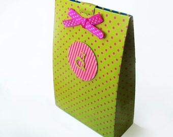 Set of 12 Large Personalized Goodie Bag Favor Box-Personalized Favor Boxes-Party Favor Box Bags-Set of 12