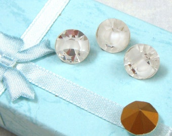 Vintage Swarovski Crystal White Givre Rhinestones, 48SS, 4
