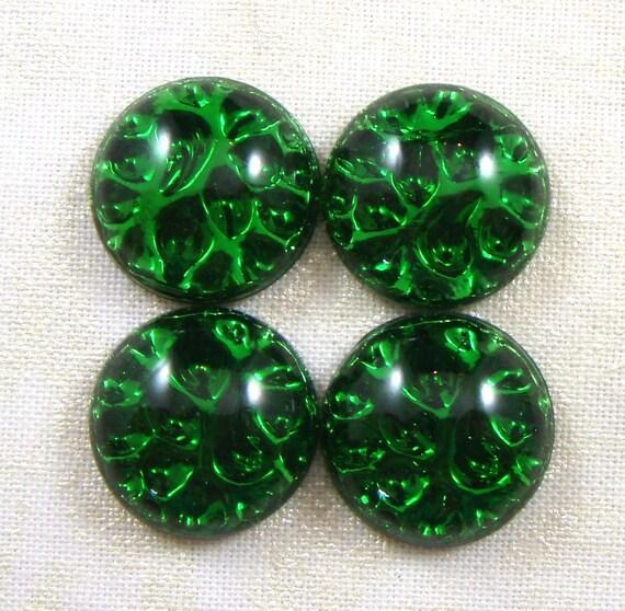 Vintage Art Deco Emerald Green Pinfire Or Reflector Glass