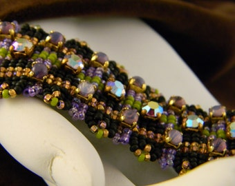 Bohemian Rhinestone and Beaded Bracelet Beadinmama