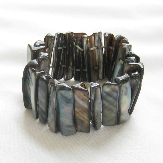 Vintage Abalone Stretch Bracelet