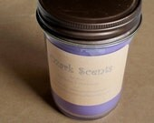 Lavender and Chamomile-- Hand poured soyblend wax-- 8 oz candle jar