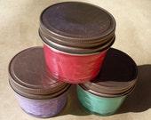 Sampler pack-SOY BLEND- 3-4oz jars- You Choose Scents