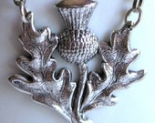 In Adoration of Thistle - thistle necklace vintage silver