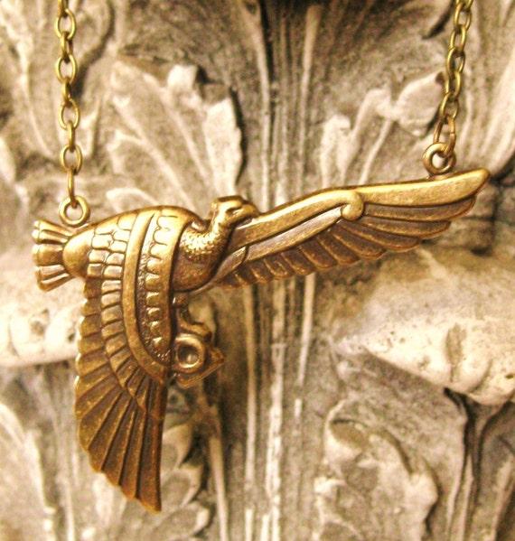 Phoenix Rising - Egyptian bird necklace