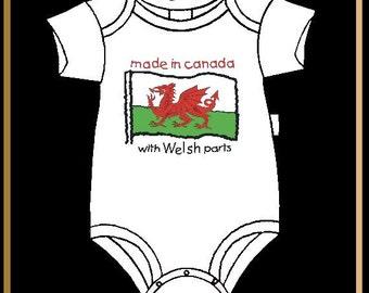 Canada - Welsh Parts Baby Jumper, Infant Bodysuit