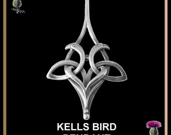 Book Of Kells Bird Pendant, Celtic Pendant