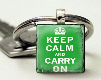 Keep Calm and Carry On Vintage Light  Green