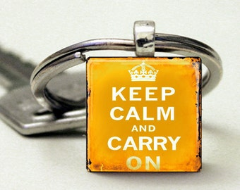 Keep Calm and Carry On Vintage Yellow