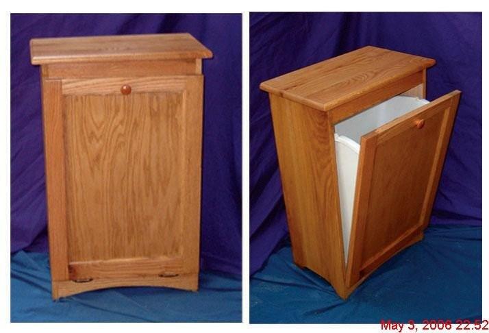 Oak Trash Bin/ Recycling Bin