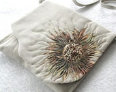 SOLD LOCALLY - Artsy sunflower purse