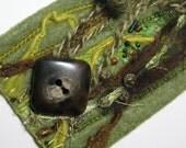 Fiber Art Cuff - Woodland Fantasy III