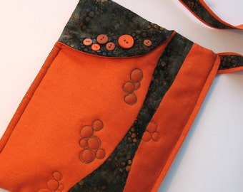 Quilted Orange Small Tote Purse