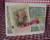 Shabby Chic Roses Vintage Image Any Occasion Card