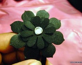 Upcycled Leather Flower Hair Clip
