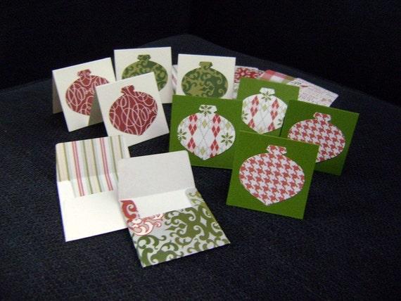 Christmas Gift Card set with envelopes  8pcs FREE SHIPPING