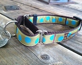 """Personalized Martingale Dog Collar. Personalized Slip Dog Collar. Dog Gone It. 1"""" Width. Embroidered Dog Collar."""